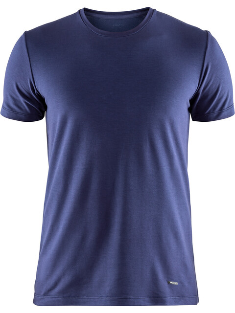Craft M's Essential Warm Roundneck Short Sleeve Shirt Maritime